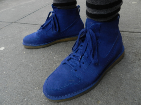 Nike SB Dunk High in Blue Suede